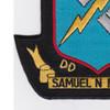 DD-747 USS Samuel Moore Patch | Lower Left Quadrant