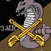 4th Sqaudron 3rd Aviation Cavalry Regiment Q Troop Patch OD   Center Detail