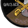 4th Sqaudron 3rd Aviation Cavalry Regiment Q Troop Patch OD   Lower Left Quadrant