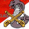 4th Sqaudron 3rd Aviation Cavalry Regiment Q Troop Patch | Center Detail