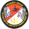 4th Sqaudron 3rd Aviation Cavalry Regiment Pegasus Troop Patch Hook And Loop