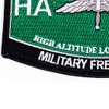 High Altitude Low Opening Parachutist MOS Patch HALO | Lower Left Quadrant