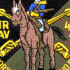 4th Sqaudron 3rd Aviation Cavalry Regiment Patch Pegasus Victory OD | Center Detail
