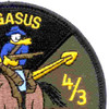 4th Sqaudron 3rd Aviation Cavalry Regiment Patch Pegasus Victory OD | Upper Right Quadrant