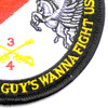 4th Sqaudron 3rd Aviation Cavalry Regiment Patch Pegasus Troop   Lower Right Quadrant