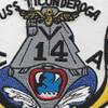 CVA-14 USS Ticonderoga Patch | Center Detail