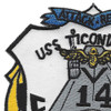 CVA-14 USS Ticonderoga Patch | Upper Left Quadrant