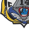 CVA-14 USS Ticonderoga Patch | Lower Left Quadrant