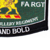 6th Field Artillery Regiment Military Occupational Specity Military MOS Rating Patch | Lower Right Quadrant