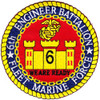 6th Engineer Battalion HTF Patch