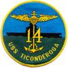 CV-14 USS Ticonderoga Patch