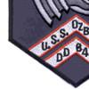 DD-846 USS Ozbourn Patch - Version A | Lower Left Quadrant