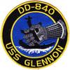DD-840 USS Glennon Patch - Version A