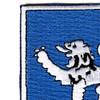 68th Infantry Regiment Patch   Upper Left Quadrant