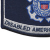 Coast Guard DAV Disabled American Veteran Rating Patch | Lower Left Quadrant
