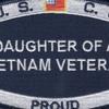 Coast Guard Daughter of a Vietnam Veteran Patch   Center Detail