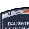 Coast Guard Daughter of a Vietnam Veteran Patch   Upper Left Quadrant