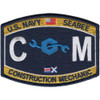 CM Construction Mechanic Rating Patch Seabee