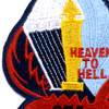 674th Airborne Field Artillery Battalion Patch Heaven To Hell A Version   Center Detail