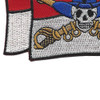 Cavalry Guide On Flag With Skull and Crossed Sabers Patch | Lower Left Quadrant