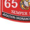6541 Aviation Ordnance System Technician MOS Patch | Lower Left Quadrant