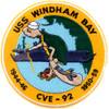 CVE-92 USS Windham Bay Patch 1944-46 1950-59