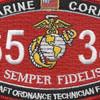 6534 Aircraft Ordnance Technician F-4/RF-4 MOS Patch   Center Detail