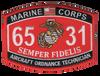 6531 Aircraft Ordnance Technician MOS Patch