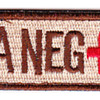 Blood Type A Negative Desert Patch Hook And Loop   Center Detail