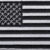 Black And White USA United States Flag Patch | Center Detail