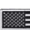 Black And White USA United States Flag Patch | Upper Left Quadrant
