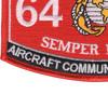 6412 Aircraft Communications AV-8 MOS Patch | Lower Left Quadrant