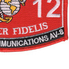 6412 Aircraft Communications AV-8 MOS Patch | Lower Right Quadrant