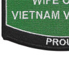 Army Wife Of A Vietnam Veteran Patch | Lower Left Quadrant