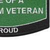 Army Wife Of A Vietnam Veteran Patch | Lower Right Quadrant