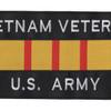 Army Vietnam Veteran Ribbon Large Back Patch   Center Detail
