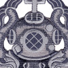 Army Master Diver Badge Patch | Center Detail