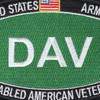 Army DAV Disabled American Veteran Army MOS Parch | Upper Left Quadrant