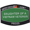 Army Daughter Of A Vietnam Veteran Patch