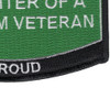 Army Daughter Of A Vietnam Veteran Patch   Lower Right Quadrant
