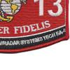6313 Aircraft Communications Navigation Radar Systems Technician EA-6 Patch   Lower Right Quadrant