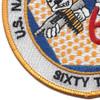 62nd NMCB Mobile Construction Battalion Patch | Lower Left Quadrant