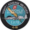A-10 Night Adverse Weather By Fairchild Republic Company Patch E.A.F.B.