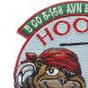 B Company 1st Battalion 52nd Aviation Regiment Sugar Bears Hook OEF XIV Patch   Upper Left Quadrant