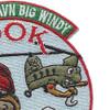 B Company 1st Battalion 52nd Aviation Regiment Sugar Bears Hook OEF XIV Patch   Upper Right Quadrant