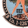 B Company 1-126th Aviation Patch Gold Diggers | Lower Left Quadrant