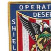 BB-63 USS Missouri Operation Desert Storm and Desert Shield Patch   Upper Left Quadrant