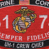 6174 UH-1 Crew Chief MOS Patch | Center Detail