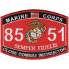 8551 Close Combat Instructor MOS Patch