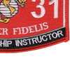 8531 Marksmanship Instructor MOS Patch | Lower Right Quadrant
